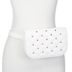 Slinky Brand Studded Faux Leather Belt Bag